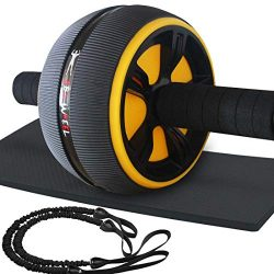 LAFENI Ab Roller, Home Abdominal Exercise Equipment Core Workout Machine Wider Ab Roller Wheel w ...