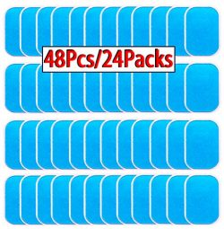 OHYAIAYN 48pcs Gel Sheets for Gel Pad, Abs Trainer Replacement Gel Sheet Abdominal Toning Belt M ...