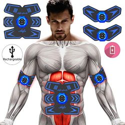 Abs Stimulator Ab Stimulator Muscle Toner Rechargeable Muscle Trainer Ultimate Abs Stimulator fo ...