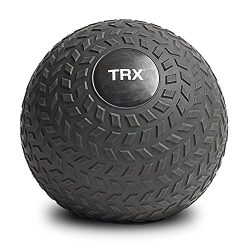 TRX Training Slam Ball, Easy-Grip Tread & Durable Rubber Shell, 15lbs