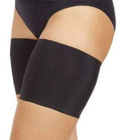 Bandelettes Elastic Anti-Chafing Thigh Bands – Prevent Thigh Chafing – Black Unisex, ...