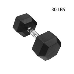 Toonshare Rubber Encased Hex Dumbbell Set of 2 – Hand Weights Deluxe Handle All-Purpose Du ...