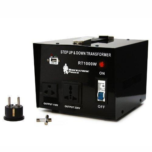 Rockstone Power 1000 Watt Heavy Duty Step Up/Down Voltage Transformer Converter – Step Up/ ...