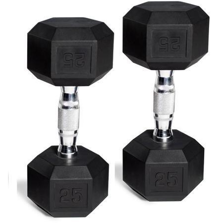 CAP Barbell Rubber-coated Hex Dumbbells, Set of 2, 45 Lb Pair (90 Lbs Total)
