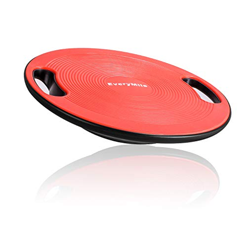 EveryMile Wobble Balance Board, Exercise Balance Stability Trainer Portable Balance Board with H ...