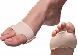 NatraCure Gel Forefoot Cushion Pads, 1 Pair – Size: S/M (Reversible) for Relief from Metat ...