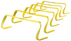 SKLZ 6x Hurdles- 6″ Ultra Durable, All Purpose Speed Training, Agility, and Plyometric Hur ...
