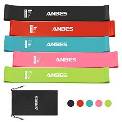 ANBES Resistance Loop Bands, Resistance Exercise Bands for Home Fitness, Yoga, Stretching, Stren ...