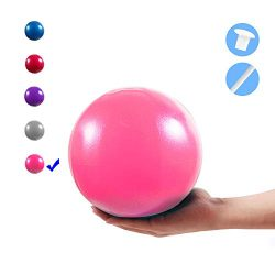 Vaupan Mini Exercise Ball, 9 Inch Small Gym Ball with Inflatable Straw for Yoga, Pilates, Stabil ...