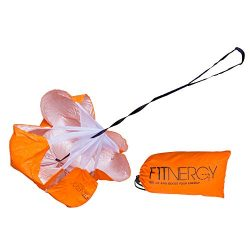 F1TNERGY Running Resistance Parachute Durable 56″ Orange Speed Sprint Training Chute ̵ ...