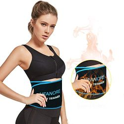 Ufanore Waist Trimmer Belt for Men & Women, Breathable Abdominal Waist Trainer, Stomach and  ...