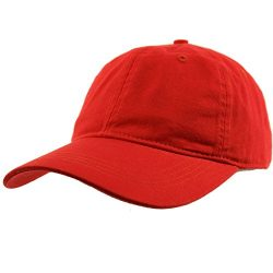 Everyday Unisex Cotton Dad Hat Plain Blank Baseball Adjustable Ball Cap Red