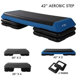 Aerobic Exercise Step Platform by Day 1 Fitness – Adjustable Workout Stepper – 40in  ...