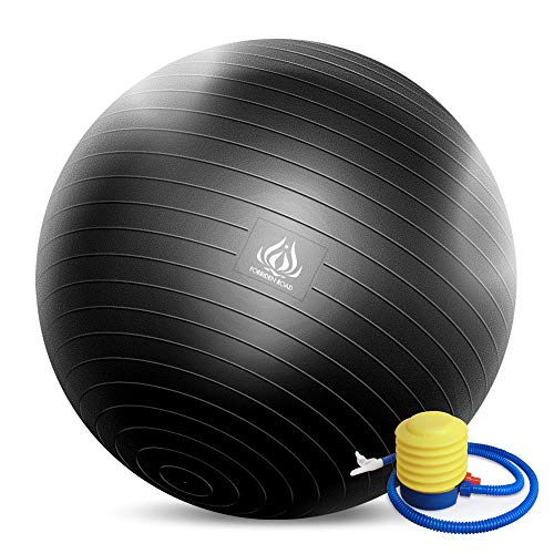 Forbidden Road Exercise Yoga Ball (4 Sizes, 4 Colors) 400 lbs Anti-Burst Slip-Resistant Yoga Bal ...