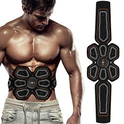 BLUE LOVE ABS Stimulator Muscle Toner Abdominal Toning Belt Workouts Portable EMS Training Home  ...