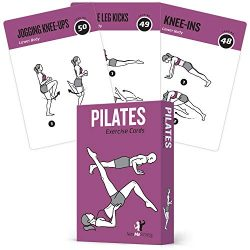 Pilates Exercise Cards, Set of 62 for Women and Men :: for Home, Gym or Studio :: 50 Mat Exercis ...