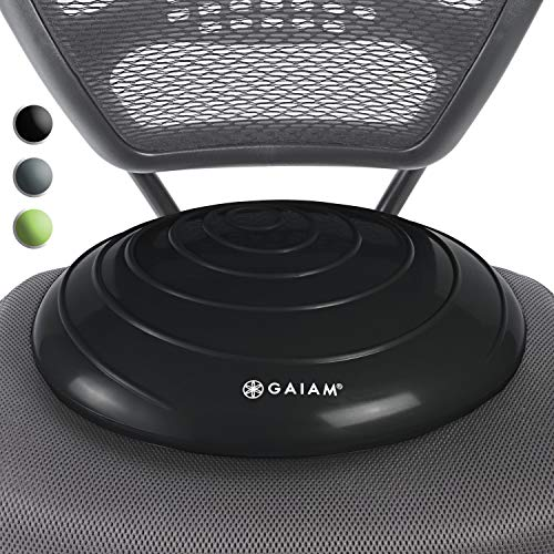 Gaiam Balance Disc Wobble Cushion Stability Core Trainer for Home or Office Desk Chair & Kid ...