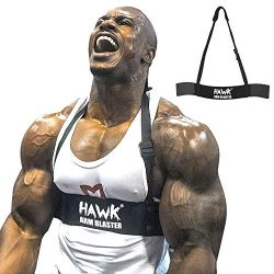 Hawk Sports Arm Blaster for Biceps & Triceps Dumbbells & Barbells Curls Muscle Builder B ...