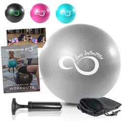 Live Infinitely Professional Grade 9 Inch Anti-Burst Mini Pilates Ball for Home Exercise, Balanc ...