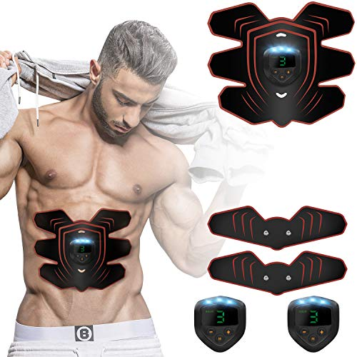 rooftree-Abs-Stimulator-Portable-EMS-Abdominal Training Device for Muscles Ab Trainer Fitness Eq ...