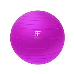 buzzyfuzzy 65 cm Exercise Ball Perfect for Balance/Yoga/Pilates/Strength core Training,Suitable  ...