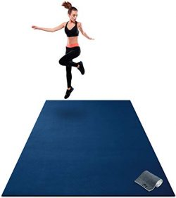 Premium Extra Large Exercise Mat – 7′ x 5′ x 1/4″ Ultra Durable, Non-Sli ...
