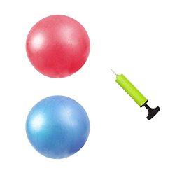 MU-MOON Mini Fitness Exercise Ball Kit with Hand Pump for Yoga, Pilates, Body Balance, Core Trai ...