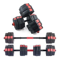 soges Adjustable Dumbbells Pair, Iron Sand Mixture Octagonal Designed, Anti Rolling Fitness Dumb ...