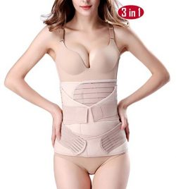 ChongErfei 3 in 1 Postpartum Support Recovery Belly Wrap Waist/Pelvis Belt Body Shaper Postnatal ...