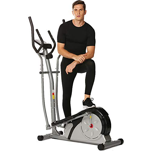 Elliptical Trainer Machine Compact for Home Use, Exercise Fitness Machine with Digital Monitor a ...