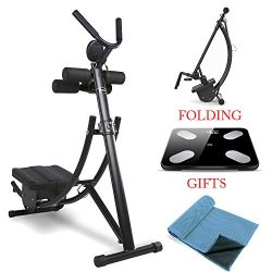 Ohana Foldable AB Coaster Max Abdominal Crunch Body Core Workout Exercise Fitness Machine for Ho ...