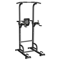 Sportsroyals Power Tower Dip Station Pull Up Bar for Home Gym Strength Training Workout Equipmen ...