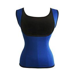 Women's Hot Sweat Slimming Neoprene Shirt Vest Body Shapers for Weight Loss Fat Burner Tan ...