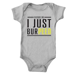 Trunk Candy Infant Excuse Me, I Just BurPeed One-Piece Bodysuit (Heather, 6M)