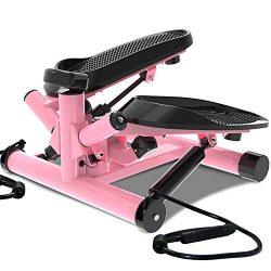 leikefitness Premium Portable Twist Stair Stepper Adjustable Resistance, Twisting Step Fitness M ...