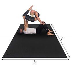 Gxmmat Large Yoga Mat 6'x8'x7mm Extra Thick, Ultra Comfortable, Non-Toxic, Non-Slip, ...