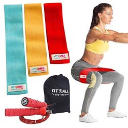 Booty bands, Fabric Resistance Bands for Legs and Butt, Workout Bands Exercise Bands Glute Bands ...