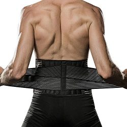 Veadoorn Waist Trimmer with Springs, Waist Back Support Unisex Men Abdominal Trainer Back Suppor ...