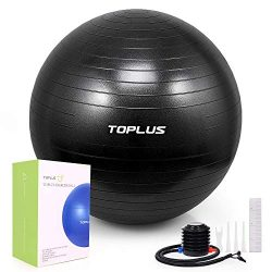 TOPLUS Exercise Ball (Multiple Sizes) Thick Yoga Ball Chair for Fitness, Stability, Balance, Pil ...