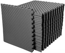 BalanceFrom 1″ Extra Thick Puzzle Exercise Mat with EVA Foam Interlocking Tiles for MMA, E ...