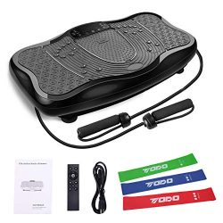 iHomey Vibration Platform Fitness Plate Whole Body Workout – Stretch Exercise with Resista ...