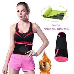 Waist Trimmer, Abdominal Trainer Adjustable Sweat AB Belt,Stomach Fat Burner Fast Weight Loss W ...