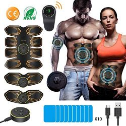 EMS Muscle Stimulator ANLAN AB Belt 8 Pack ABS Stimulator Rechargeable AB Trainer for Men Women  ...