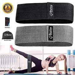 Hip Resistance Exercise Bands for Legs and Butt,Booty Fabric Bands Thick Loop Bands Workout Wide ...