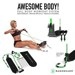 BandBoard Workout Portable Home Gym-Perfect for Body Building Workouts Equipment for Home with B ...