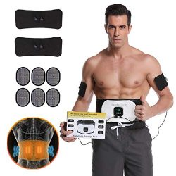 UMATE Abs Stimulator Abdominal Trainer Ultimate Waist Trimmer Ab Stimulator Men Women Work Out A ...