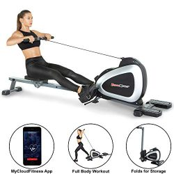 Fitness Reality 1000 Plus Bluetooth Magnetic Rower Rowing Machine with Extended Optional Full Bo ...