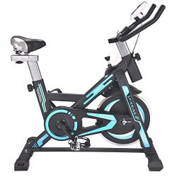 Durable Mute Indoor Training Spinning Bike and Elliptical Cross Trainer with Fitness Cardio Weig ...