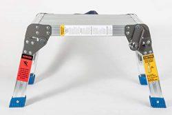 MaxWorks Aluminum 80773 Foldable Platform & Step Stool-350 lbs. Maximum Capacity