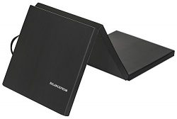 BalanceFrom 2″ Thick Tri-Fold Folding Exercise Mat with Carrying Handles for MMA, Gymnasti ...